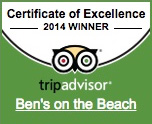 Ben's on the Beach Tripadvisor 2014