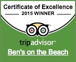Ben's on the Beach Tripadvisor 2015