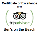 Ben's on the Beach Tripadvisor 2016
